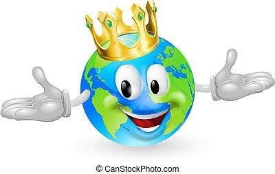 roi, mondiale, mascotte