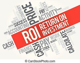 roi, -, retorno, investimento