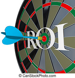 ROI Return on Investment Dartboard Targeting Wealth - The...