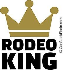 roi, rodéo, couronne