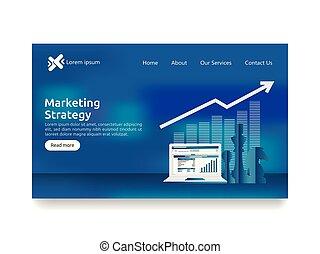 roi, salita, investimento, su., web, profitto, concept., foglio elettronico, strategia, aumento, sagoma, ritorno, finanza, affari, marketing, screen., atterraggio, verifica, charts., stiramento, analisi, grafici, pagina