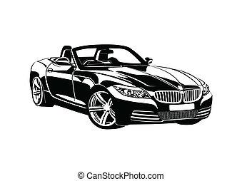 roi, sport, noir, voitures