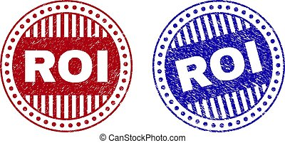 roi, timbres, grunge, rond, textured