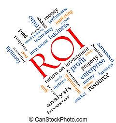 roi, woord, wolk, concept, hoekig