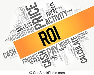 ROI  word cloud collage