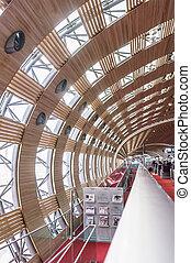 roissy, 空気, フランス, gaulle, 4 月, de, 空港, 航空会社, ハブ, 出発, ターミナル, ...