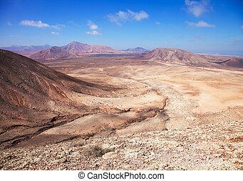 roja, norteño, oeste, fuerteventura, (red, montana, mountain...