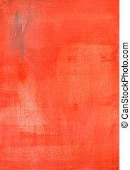 rojo, acuarela, papel, textura