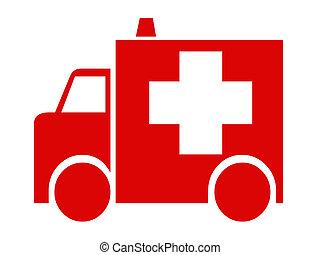 rojo, ambulancia