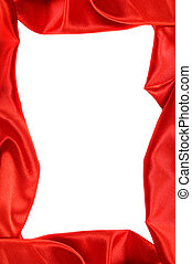 rojo, artístico, marco