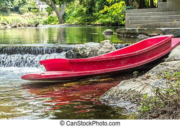rojo, barco