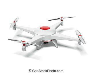 rojo blanco, quadrocopter