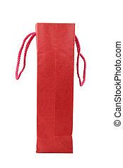 rojo, bolso de compras
