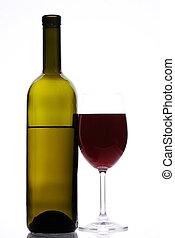 rojo, botella, vino