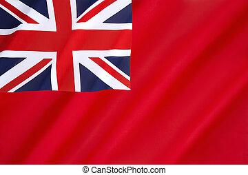 rojo, británico, alférez