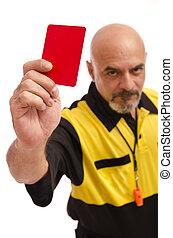 rojo, card!!..., ir, out!!