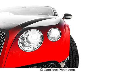 rojo, coche deportivo