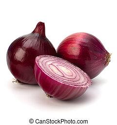 rojo, cortar, cebolla