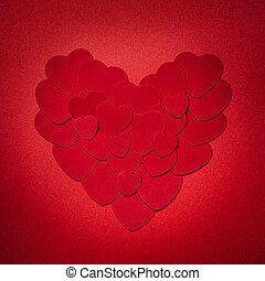 rojo, día de valentines, corazón
