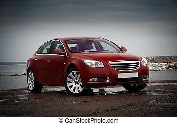 rojo, empresa / negocio, coche