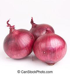 rojo, ensalada, cebolla