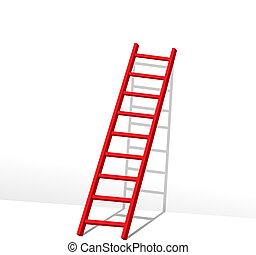rojo, escalera