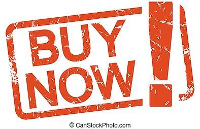 rojo, estampilla, now!, comprar