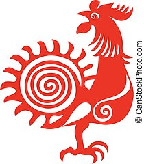 rojo, gallo