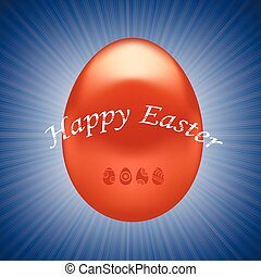rojo, huevo de pascua