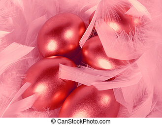 rojo, huevos, de, amor