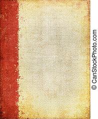 rojo, margen, pantalla, patrón