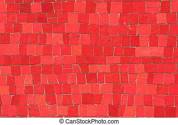 rojo, mosaicos