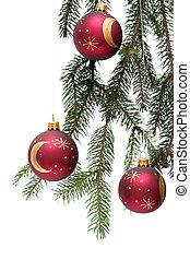 rojo, navidad, bombillas