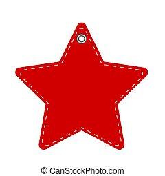 rojo, nuevo, ilustración, o, acción, navidad, vector, estrella, año, hangtag