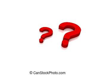 rojo, pregunta, blanco, plano de fondo