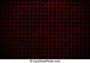 rojo, puerta de pantalla, detalle, patrón, plano de fondo, o, textura