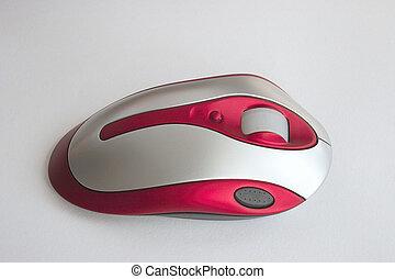 rojo, ratón óptico