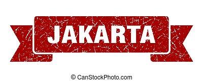 rojo, ribbon., señal, grunge, banda, yakarta