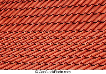 rojo, techo