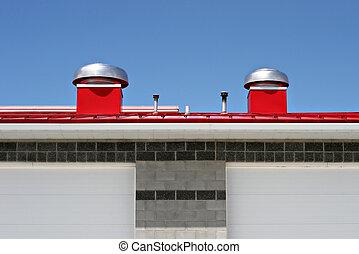 rojo, tejado