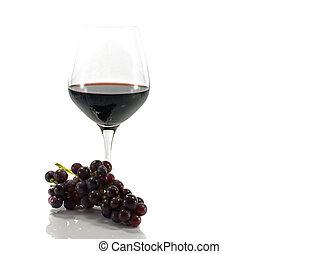 rojo, uvas, vino