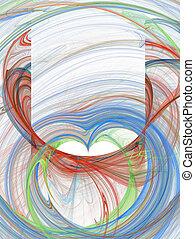 rojo, verde, y azul, diseño abstracto