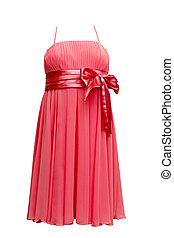 rojo, vestido de la tarde