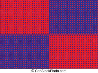 rojo, y azul, puntos