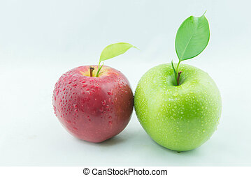 rojo y verde, apples.