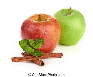 rojo y verde, manzana