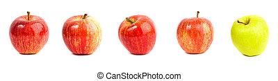 rojo y verde, manzanas