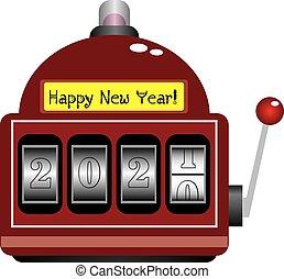 rok, čerstvý, herna, číslice