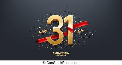 rok, 31, tło, rocznica