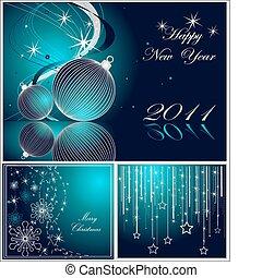 rok, szczęśliwy, wesołe boże narodzenie, nowy